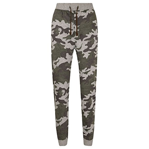A2Z 4 Kids® Kinder Hosen Jungen Mädchen Camouflage Aufdruck - Camo Fleece New Trouser Green 12-13 (Camouflage-fleece-hose)