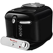 Moulinex AM300830 Super Uno - Freidora (40 x 27,5 x 28 cm), color negro