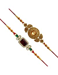 Jaipur Mart Kundan Rakhi Gift for Brother Latest Rakhi Gift (RKH02$P)