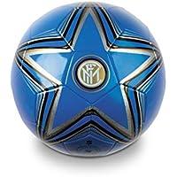 Mondo- Inter F.C Pallone di Cuoio da Calcio, Colore Blu, 8001011133970