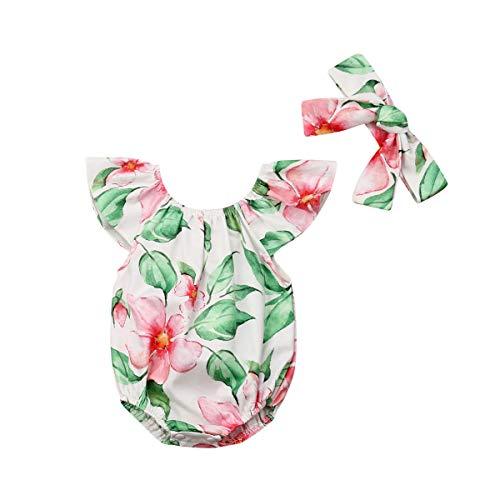 CIPOPO Sommer Neugeborenen Baby Mädchen Blumen Drucken Ärmellos Ruffle Rose Body Strampler Overall Romper Playsuit Kleidung Outfit (6-12M, - Drucken Ärmelloses Kostüm