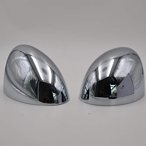 H HILABEE 2 x Spiegelkappen Rückspiegel Abdeckung Seitenspiegel Kappe für BMW Mini Cooper R50 R53 2001-2006, Silber