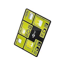 Goobay 58922 SIM Adapter Set im Kreditkarten-Format für Nano/Micro