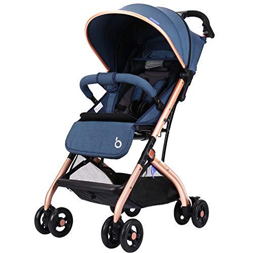 XUE Baby-Kinderwagen, kann Liegen leichte Faltschirm Kinderwagen variablen Trolley Fall EIN Knopf, um Car Seat Reisesystem zu sammeln
