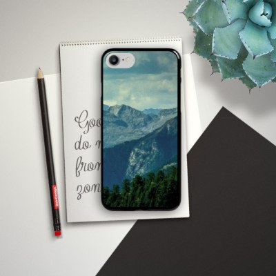 Apple iPhone X Silikon Hülle Case Schutzhülle Berglandschaft Gebirge Hügelkette Hard Case schwarz