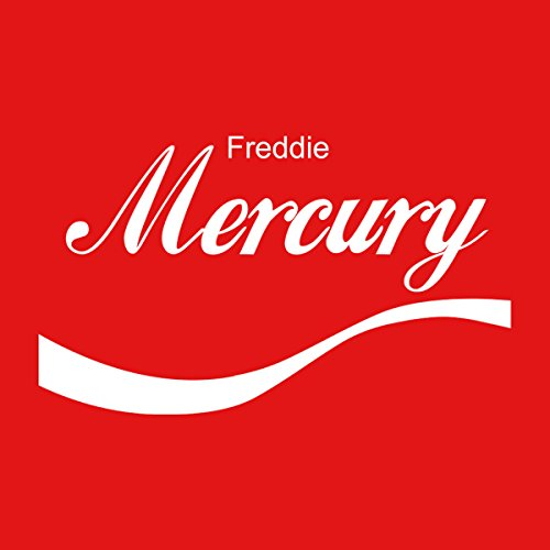 Freddie Mercury Coke Logo Men's Hooded Sweatshirt Red