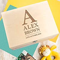 Personalised Wooden Keepsake Box for Girls and Boys - Personalised Gifts for Children - Baby Name Gifts