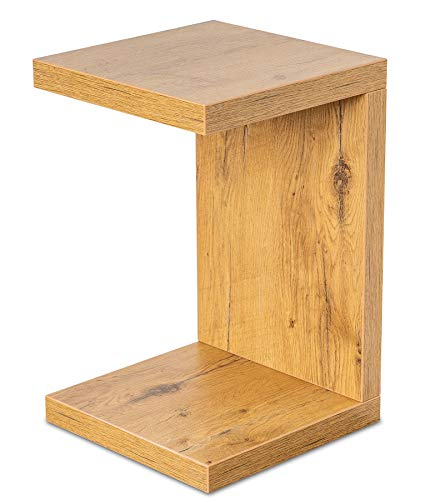 levandeo Couchtisch Coco Holz 32x32x50cm Wildeiche Eiche Tisch Beistelltisch Deko Sofatisch Ablage Keine Montage Fest Verleimt