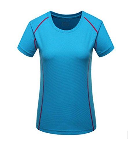 Männlich Frau Slim kurzes T-Shirt Art und Weise T-Shirt lässig T-Shirt und eine schnelle Bewegung Laufen im Freien Basketball-T-Shirt , light blue , s (Basketball-t-shirt Light Blue)