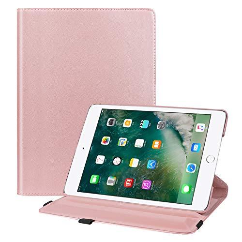 Fintie iPad 9,7 Zoll 2017 / iPad Air Hülle - 360 Grad drehbare Standfunktion mit automatischer Schlaf- / Wachfunktion für Apple iPad 9,7 Zoll 2017 Tablet/iPad Air 2013 Modell Rose Gold 9.7 Inch