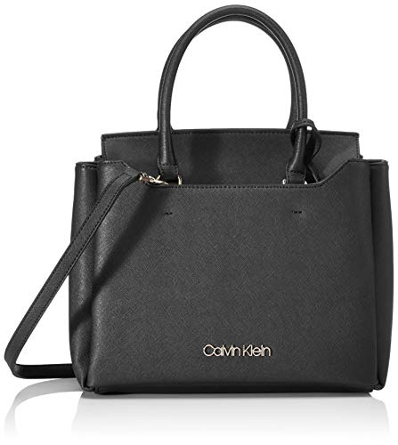 Calvin Klein Damen Worked Sml Tote, Schwarz (Black), 12x24x28 centimeters