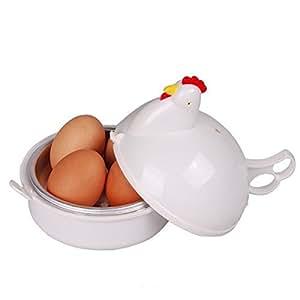 Tinksky plastique micro-ondes oeufs chaudière braconnier cuiseur pour 4 œufs