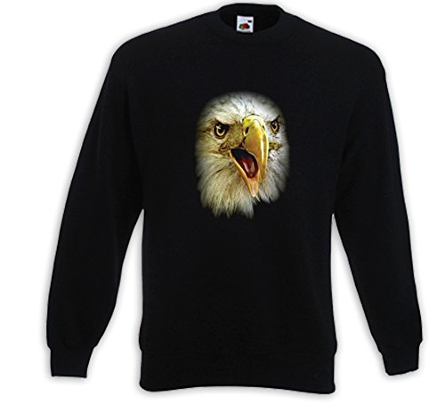 Animal Pull Eagle Face USA Adler animal aigle à tête blanche loup Indien Noir