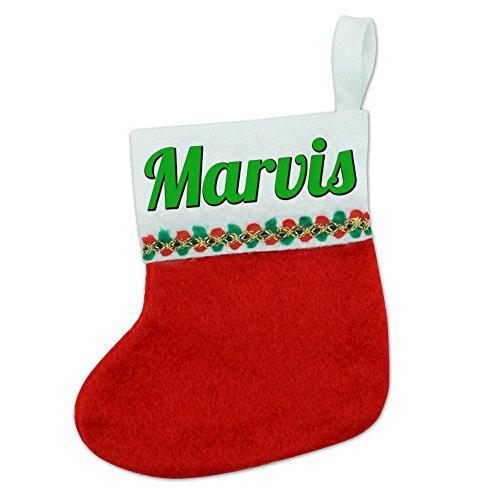 Preisvergleich Produktbild Weihnachten Urlaub Filz rot Mini Kleine Weihnachtsstrumpf, Grün Text-Namen weiblich mari-mary Marvis
