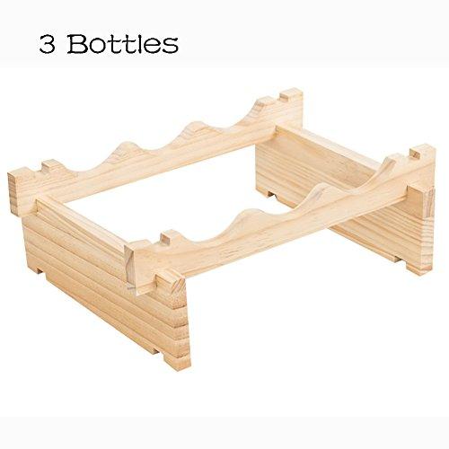 Weinregale Stapelbare Hölzerne Flaschen-Halter-Speicher-Anzeigen-Regal freistehend Perfekt für Bar, Weinkeller, Keller, Kabinett, Pantry (Farbe : 3-Tier) (3 Regal-speicher-kabinett)