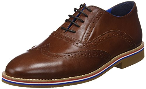 El Ganso Piel, Zapatos de Cordones Oxford para Hombre, Marrón (Marrón Único), 43 EU