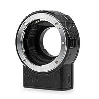 يدعم محول تثبيت العدسة التلقائي فيلتروكس NF-M1 من فيلتروكس ناقل الحركة في ار EXIF متوافق مع عدسة نيكون F التركيب إلى كاميرا 4 ثالث (MFT، M4/3)