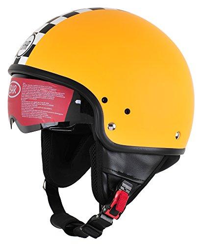 BHR Pure, Casco Uomo, Arancione (Orange Racing), L (58 cm)