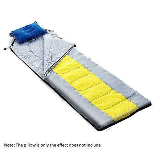 Sacco a Pelo da Viaggio da Esterno Busta Tipo Four Seasons Warm Camping Sacco a Pelo in Cotone Trapuntino Aria Condizionata 220cm (Color : Gray)