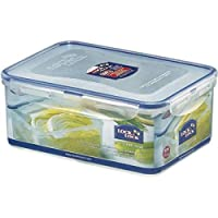 Lock & Lock Rectangular Food Container, 2.3 Liter Hpl825 - Clear Blue