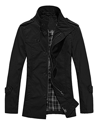 allegra-k-homme-manches-longues-bouton-fermeture-autumne-mode-trench
