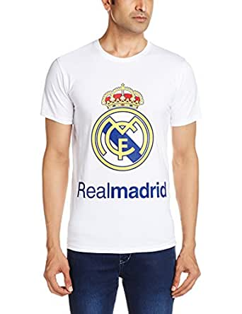Real Madrid C.F Men's T-Shirt (8903520243297_RMCF-T01_L_White)