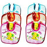 Baby Bibs For Girls And Boys, Set Of 6 Baby Drool Bibs, Super Soft, Waterproof, Newborn Baby Shower Gift, Toddler Girl Boy Bibs (Unisex-Baby, Set Of 6 Multicolor (Orange, Blue, Pink))
