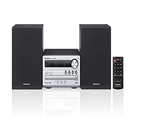 Panasonic sc-pm250eb-s, CD Player, Bluetooth, FM Tuner, Wireless Traditional HiFi-System – Silver, [UK Import]