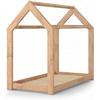 Kinderbett häuschen  Kinderbett Kinderhaus Bett Kinder Holz Haus Schlafen Spielbett ...