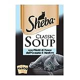 Sheba Classic Sopa con filetes de Pescado del océano & Verduras–Paquete de 12Unidades