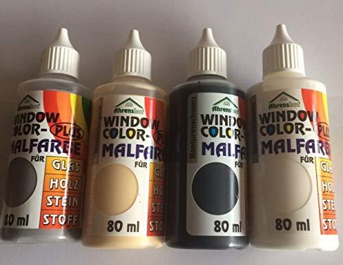 Hs24store Window Color 80ml 4 Konturenfarben Starter Set