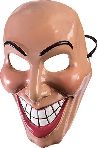 e Halloween Kostüm Party Horror groß Smile The Purge Evil Grin Maske - Buchse, One Size ()