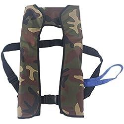 Automatisch aufblasende Rettungsweste 150N für Erwachsene, zum Segeln / Boot fahren / Schwimmen, Bright Camouflage