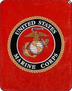 101,6x 127cm & 127x 203,2cm & 152,4x 203,2cm Decke Komfort Wärme weichem Cozy Klimaanlage einfach Pflege Maschinenwäsche Marine Corps Cool, Polyester, rot, 127 cm x 203,20 cm -