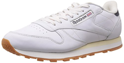 Reebok Classics Men's Cl Lthr Lp White Leather Running Shoes – 10 UK 41xi9pH3vbL