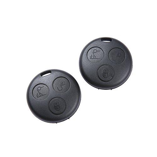 tinxi® 2x 3Tasten Schlüssel Gehäuse für Smart ForTwo MC01 450 Fernbedienung Knopf auto key