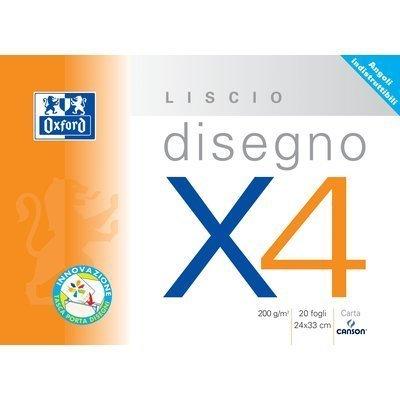 Canson Album 4 Angoli Disegno C4 Ruvido 20 Fogli 224 G/Mq 33x48