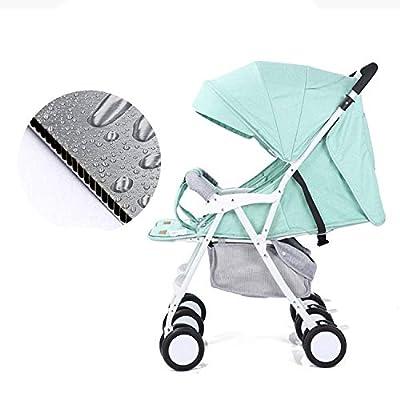 XYL Silla de Paseo para Cochecito Doble Plegable para niño/bebé con una combinación de Canasta de Almacenamiento Grande arnés de Cinco Puntos claraboya Grande Cochecito cómodo