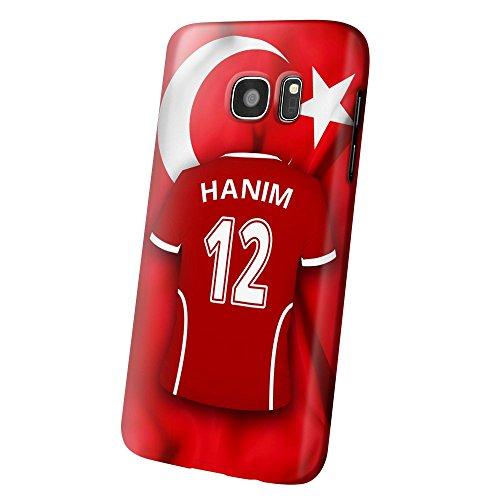 PhotoFancy – Samsung Galaxy S7 Handyhülle Premium – Personalisierte Hülle mit Namen Hanim – Case mit Design Fußball-Trikot Türkei EM 2016