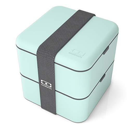 monbento Square Bento Box, Kunststoff, Matcha, 14 x 14 x 14 cm