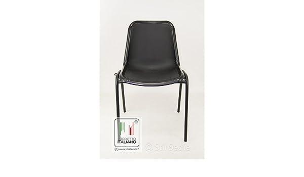 Sedie In Metallo E Plastica : Stil sedie sedia in metallo colore nero monoscocca da attesa e