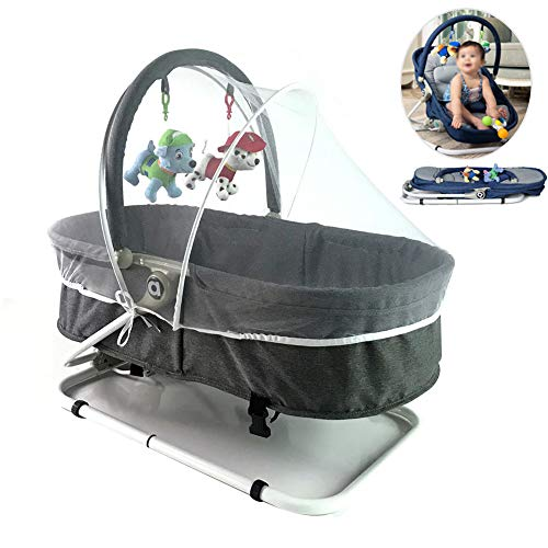 Mr.LQ Baby Bouncer Chair Baby Culla Melodie Musicali Soothing Vibrazione Poltrona reclinabile Hanging Toys Design Pieghevole