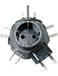 Kopp SB Weltreise-Stecker-Adapter Travel-Star, schwarz, 172205012