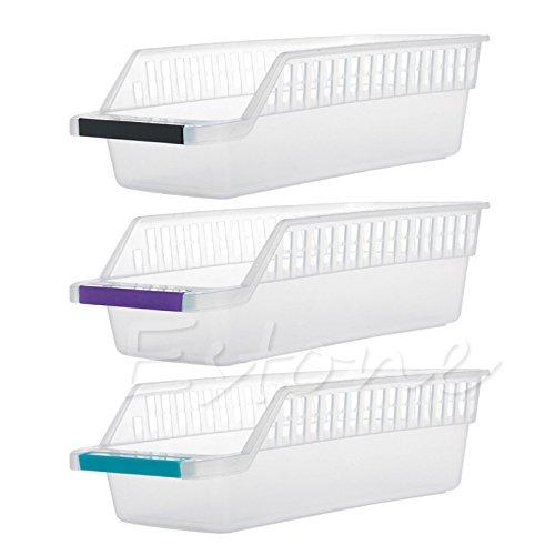 LANDUM Aufbewahrung Sammeln Box Korb Küche Kühlschrank Fruit Organizer Rack Halter zufällige 30x 13x 9cm (LxBxH)