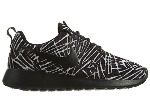Nike Wmns Roshe One Print Scarpe da ginnastica, Donna Nero / Nero-Bianco)