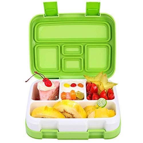 Jelife Fiambreras con Compartimentos Caja de Almuerzo sin BPA Fiambreras Infantiles a Prueba de...