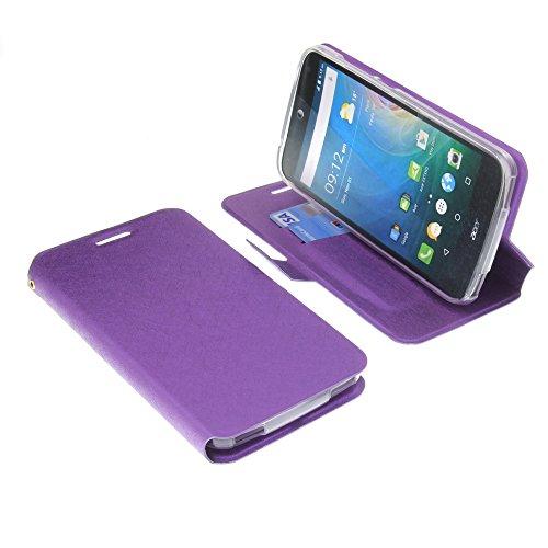 foto-kontor Tasche für Acer Liquid Z630 Liquid Z630S Liquid M630 Book Style lila Schutz Hülle Buch