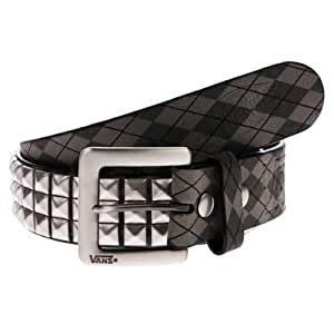 GÂürtel Vans Vans Studded Leather Belt grey argyle L