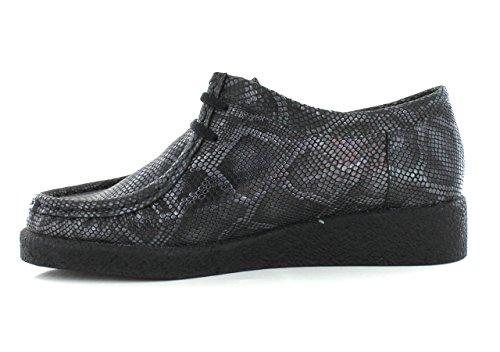 Mephisto-Chaussure Lacet-CHRISTY Noir verni 1000-Femme Gris f