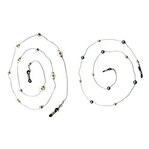 Anti-Rutsch Brillenketten Brillenband Modische Brille Schmuck Sonnenbrille mit Bunte Perlen Kettenhalter